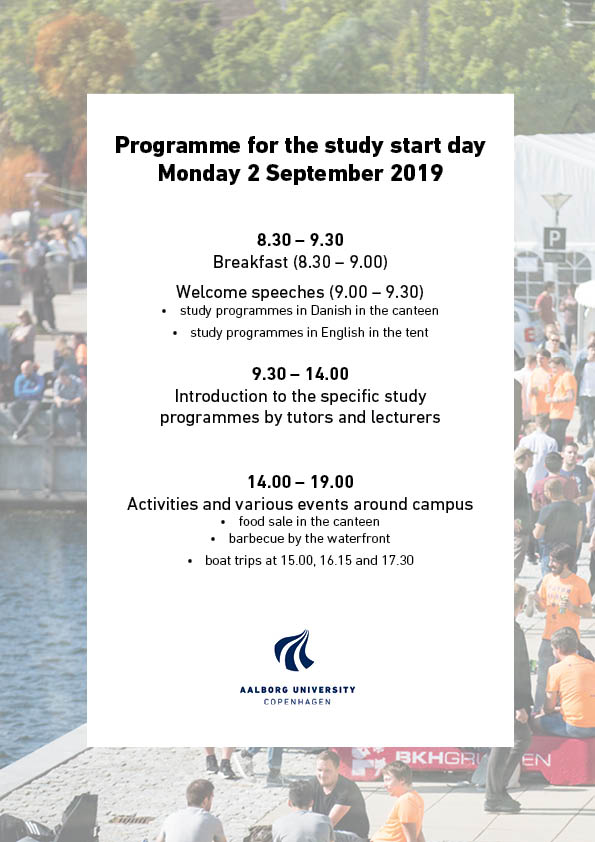 Programme for the study start day 2019
